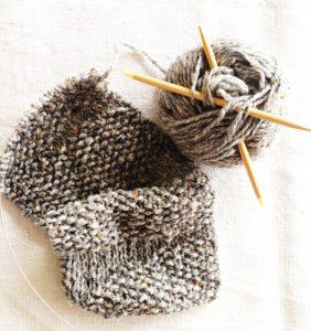 Tweed-Stirnband selbst stricken