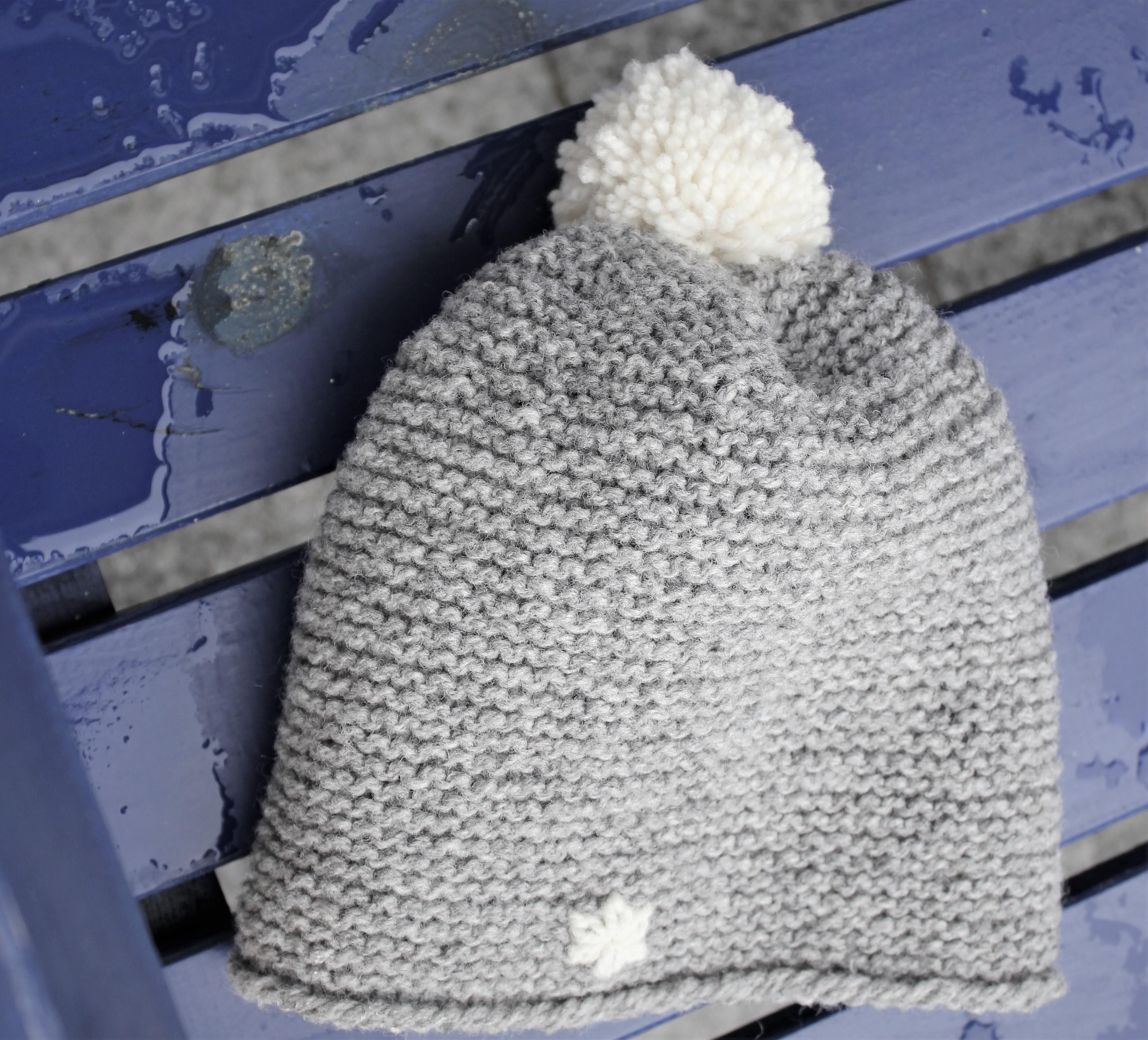Mütze aus grauer Dochtwolle